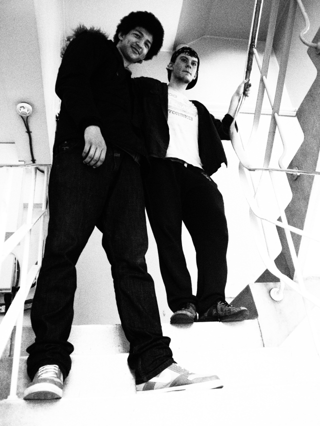 Craig and Joe on the stairs