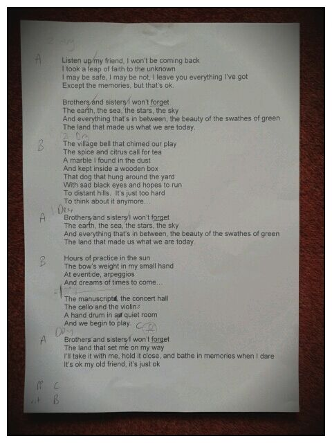 Lyrics of sara